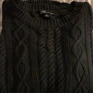 AGB woman black cable sweater size 3x